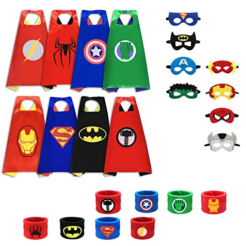 Cartoon Capes, Cartoon Dress up Costumes, Costume Scapes & Masks & Bracelets (8pcs Capes)