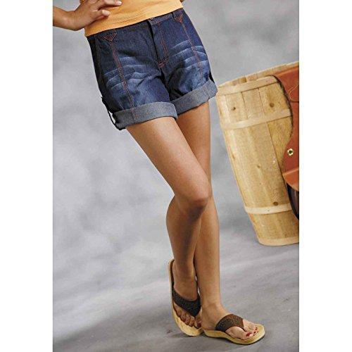 Roper Denim - Roper Western Shorts Womens Zip Denim 9 Indigo 03-055-0594-0400 BU