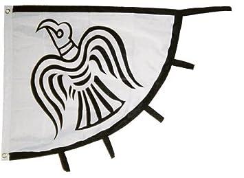 Amazon.com : Viking Raven Flag Vikings Banner Pennant 31x36 inch ...