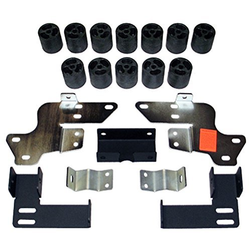 Daystar PA10073 Body Lift Kit; 3 in. Lift; Incl. Steering Extension; Front/Rear Bumper Brackets; Radiator Relocation Brackets; Blocks; All Required Hardware;