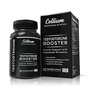 Testosterone Booster for Men to INCREASE Muscle Growth, BOOST Energy Levels & Help RECOVER Faster - Magnesium Activation Formula with Tribulus Terrestris, Saw Palmetto & Horny Goat Weed