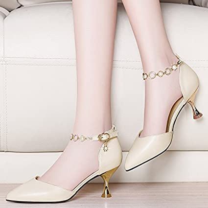 544d2af805a Amazon.com : GTVERNH-7Cm High Heel Shoes Women Summer Early Spring ...