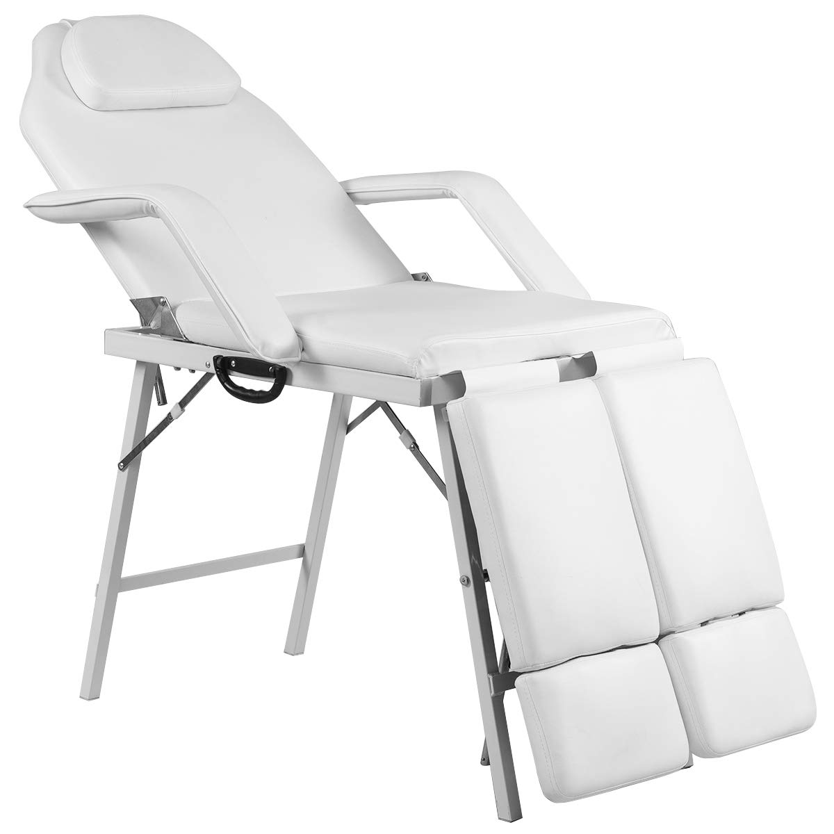 Giantex 75'' Massage Table Bed Chair Folding with Carry Bag, Portable Beauty Spa Salon Equipment Barber Facial Tattoo Chairs