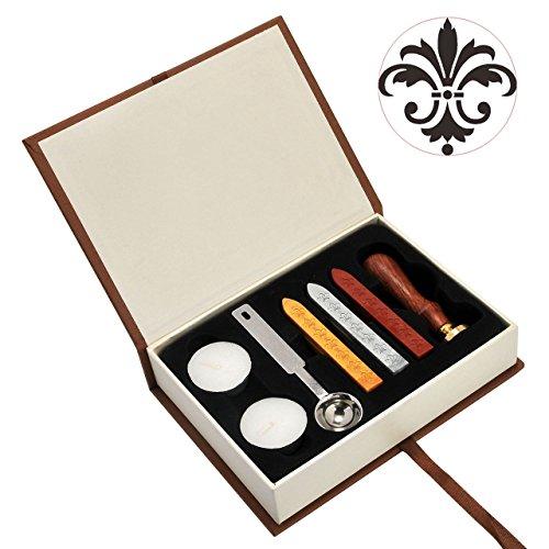 (Flower Wax Seal Stamp Set, Yoption Classic Vintage Seal Wax Stamp Set, Retro Seal Stamps Maker Gift Box Set (Flower))