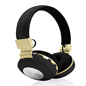 LJSHU Auriculares Inalámbricos Estéreo 4.1 Auriculares Bluetooth Aislamiento De Ruido Plegable Ajustable para iPhone iPod iPad