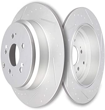 Front 2011 2012 2013 2014 Odyssey Rotors w//Ceramic Pads OE Brakes