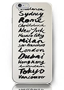 New Unique Hard Cover for 5.5 Inch Iphone 6 Plus Case with Design of Casablanca Sydney Rome New York Mesico City Milan San Francisco