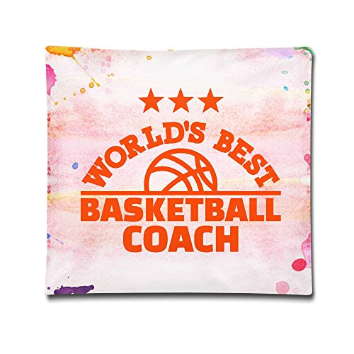 World's Best Basketball Coach Custom Throw Pillow Case£¨1818£Cotton No Filler/Insert