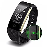 Fitness Tracker, Sendcool Waterproof Bluetooth 4.0 OLED Touch Screen Smart Wristband, Heart Rate and Sleep Monitor Activity Tracker for Iphone,Samsung and other Android smartphone (BLACK)