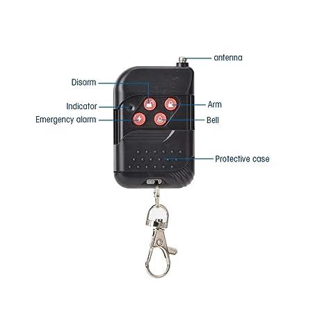 Alarma antirrobo para bicicleta, Motocicleta Alarma Vibración Impermeable inalámbrica, Alarma de seguridad para Bicicleta, Moto, Coche, Puerta