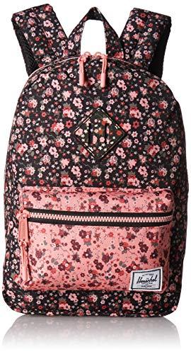 Herschel Heritage Kid's Backpack, Multi Ditsy Floral Black/Flamingo Pink, One Size