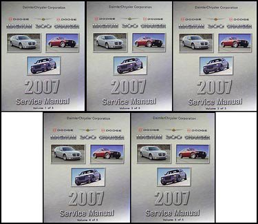 2007 Dodge Magnum/Charger Chrysler 300 Repair Shop Manual Original Set