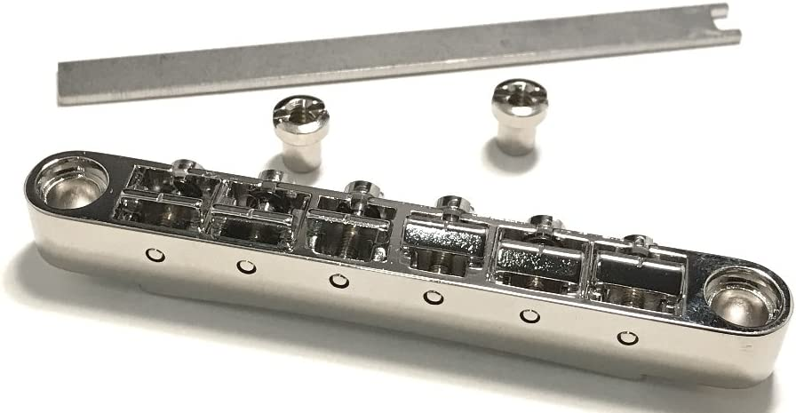 For Nashville /& Imported Guitars using large bridge posts See Important Details! in GLOSS NICKEL ABR-1 /& 4MM for ALL GIBSON EPIPHONE and MANY OTHER GUITARS FABER/® TONE-LOCK/™ BRIDGE
