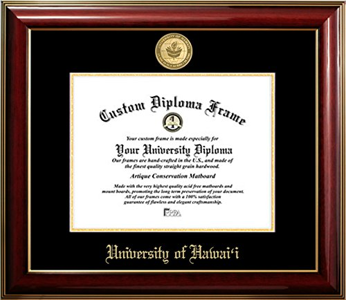 University of Hawaii 22K Gold Medallion Diploma Frame (8 X 10) by Diploma Frame Deals