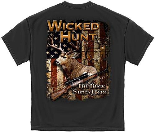 Erazor Bits 100% Cotton Wicked Hunt Deer Buck Stop Here T-Shirt