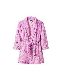 Peppa Pig Girls Toddler Plush Pink Bathrobe Robe Pajamas