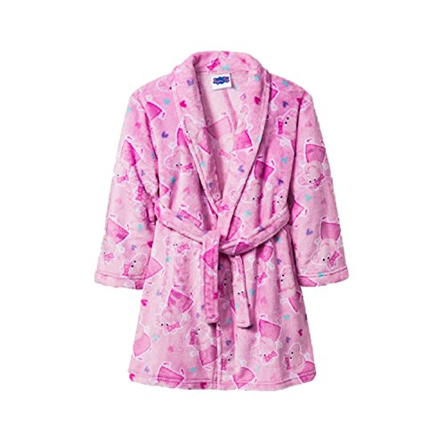 Peppa Pig Girls Toddler Plush Pink Bathrobe Robe Pajamas (4t/5t) (Toddler Girl Robe)