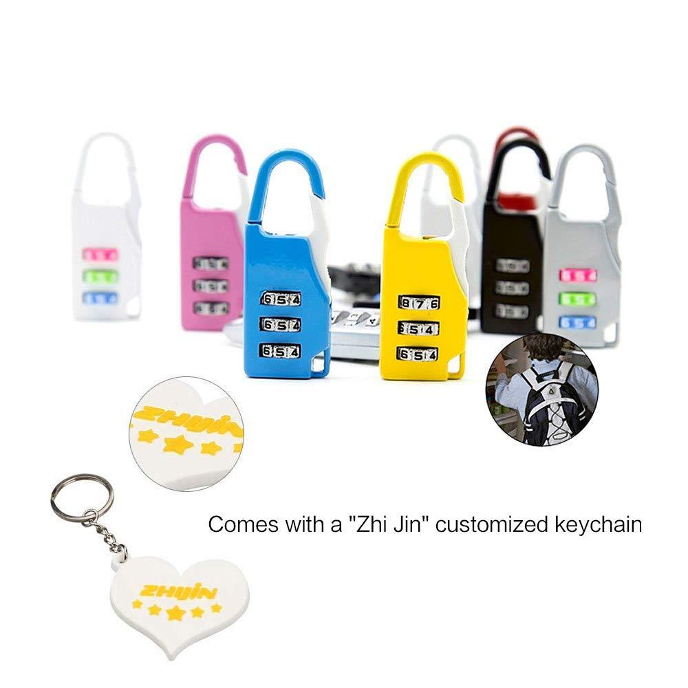 Zhi Jin Lot de 12/Voyage Serrure /à combinaison bagages Cadenas Code Verrouille Gym Ensemble de casiers Vrac Sports Baggage Armoires