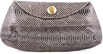 Jalda Clutch for Women - Leather, Gray