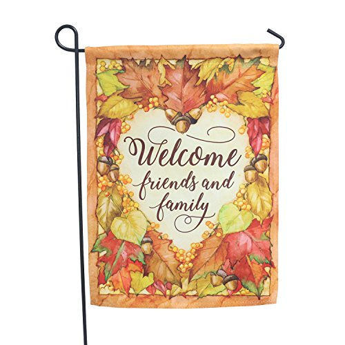 LAYOER Home Garden Flag 13 x 18 Inch House Double Sided Autumn Leaf Welcome 12x18