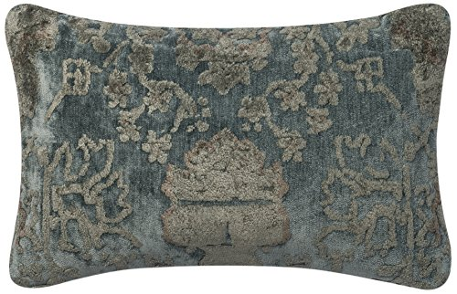 Loloi Accent Pillow DSETGPI15DSETGYBBPI11 Grey/Blue 100% Viscose with Down Fill 1'-2