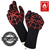 Bruella FormFIT, Mens Gifts BBQ Gloves | #1 Best Fit on Amazon! #SAFETY #SPIDERMAN | A+ Military Grade Kevlar | EN 407 Certified at over 900°F!