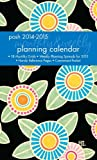 The Posh: Sunny Flowers 2014-2015 Monthly/Weekly Planning Calendar features a process-intensive design, lay-flat binding, monthly grids for August 2014 through December 2015, weekly planning spreads for 2015, and a three-year calendar for ref...