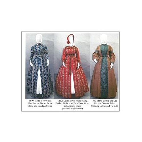 1840's - 1860's Ladies Wrapper, Work-Dress, Morning Gown or Maternity Dress Pattern