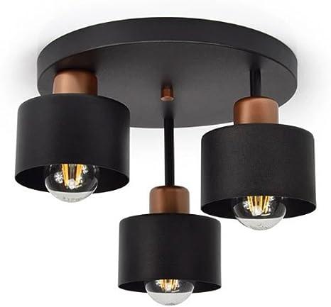 Decken Leuchten Flur Küchen Strahler 4-flammige Wohn Schlaf Zimmer Lampe Stoff