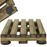 Premium Stained Coaster Set (4) Wood Pallet Drink