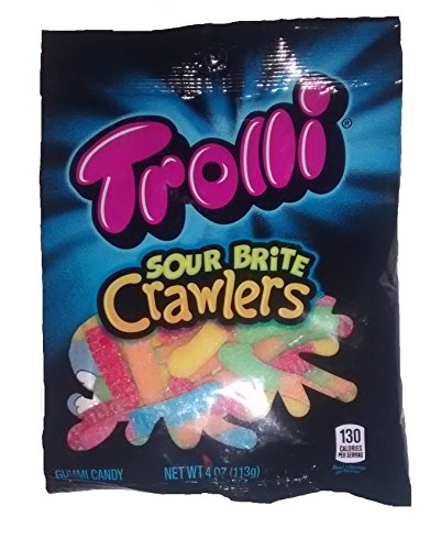 Trolli Sour Brite Crawlers Gummi Candy 4 Ounce Bag