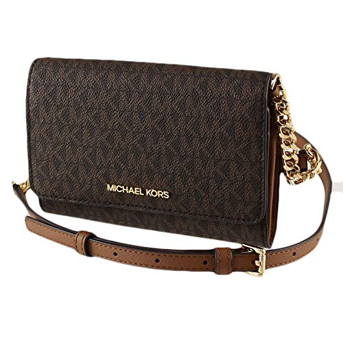Michael Kors Women's 35F0GTVC8B Jet Set Travel Medium Multifunction Phone Xbody Crossbody Bag Wallet