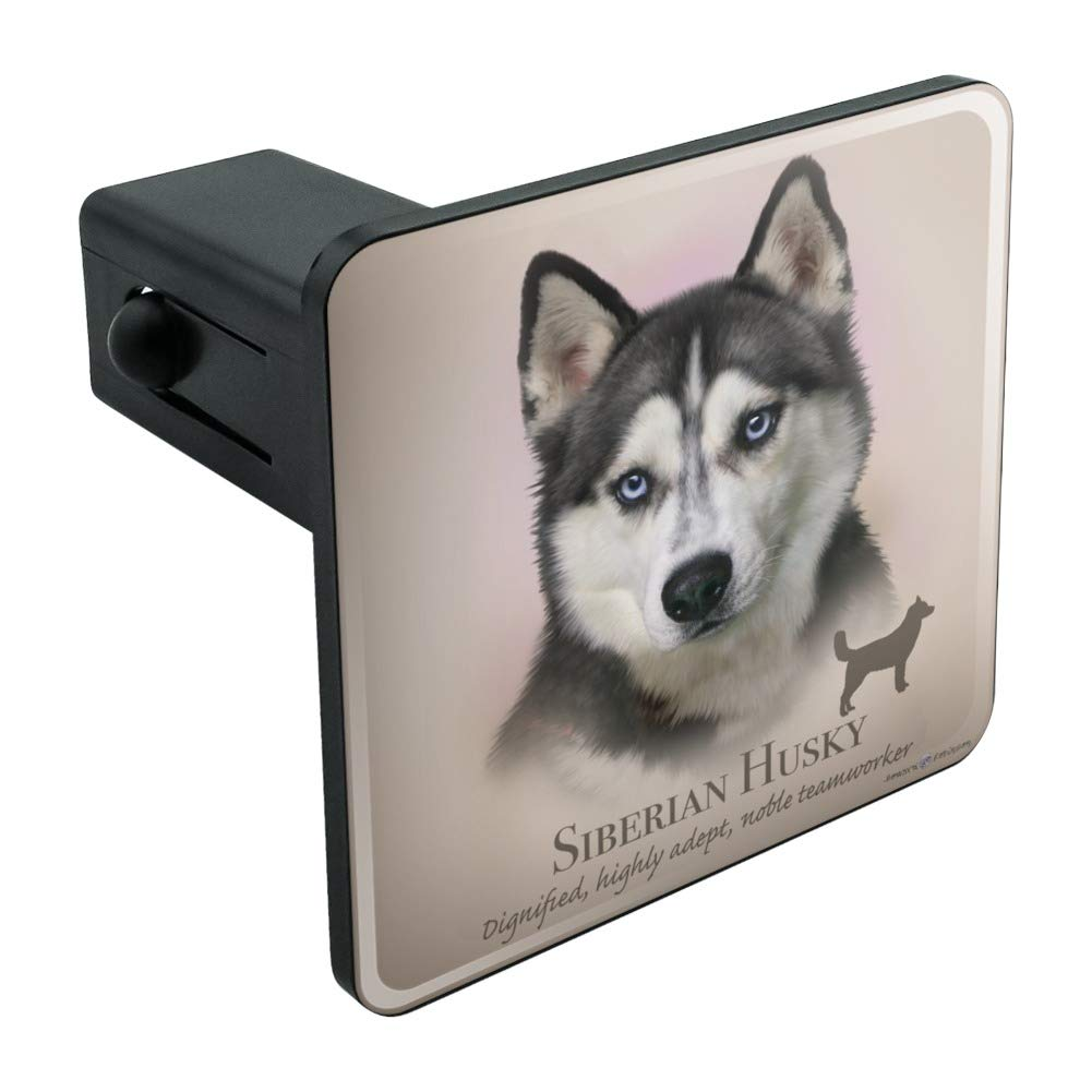Graphics and More Siberian Husky Dog Breed Tow Trailer Hitch Cover Plug Insert 2' GRAPHICS & MORE