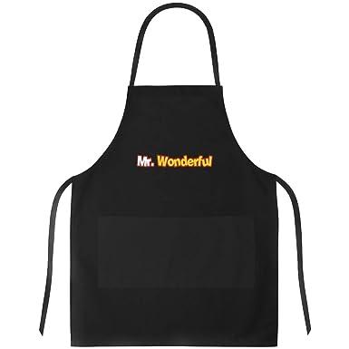 Idakoos Mr Wonderful Moved Font - Funny/Adjetivos - Delantal: Amazon.es: Ropa y accesorios