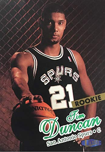 1997-98 Fleer Ultra - Tim Duncan - San Antonio Spurs NBA Basketball Rookie Card - RC Card #131