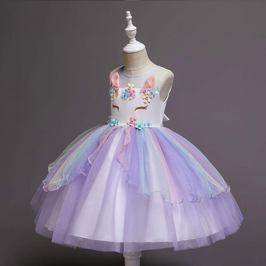 Tulle Dresses Kids Baby Girls Skirt Princess Party Clothes Pageant Prom Ball Gown