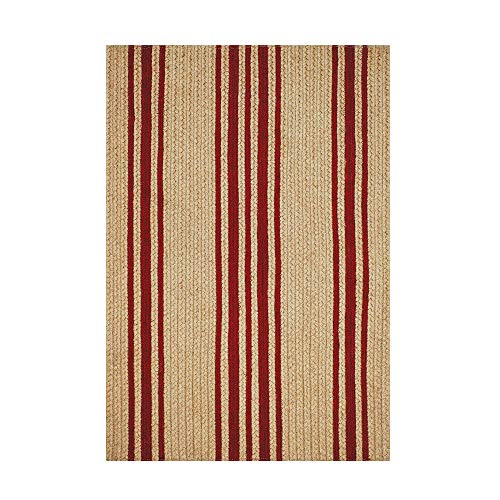 Rectangle Jute Braided Rug - All Natural Fiber 8' x 10' Area Rug, Made with Natural Jute Twine - A Reversible Rug for Rustic Home Décor - Homespice Baker Farmhouse Rectangle Jute Rug 8' x 10'