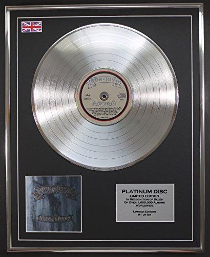 BON JOVI/LTD EDITION CD PLATINUM DISC/NEW JERSEY