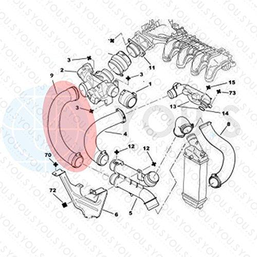 0382.EJ Durite Turbo Entr/ée DAir Diam/ètre Int/érieur 50//54 mm