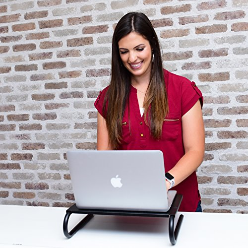 CASIII Monitor Stand Riser Vented for Computer, Laptop, Desk, iMac, Printer Platform inch Height (14.6'' X 10.8'') CAS-082 by Casiii (Image #2)