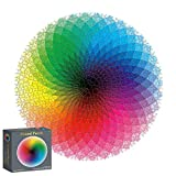 Houkiper Round Jigsaw Rainbow Puzzles, 1000 Pieces Round Gradient Color Rainbow Durable Cardboard Puzzle for Kids Adult,10, 11, 12 and Ages Up (Color: Colorful, Tamaño: Rainbow Palette)