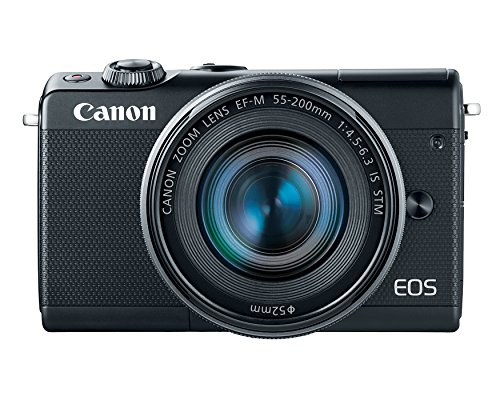 Canon M100 Camera 55-200mm Lens - Bluetooth,