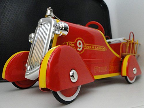 Antique Toys Fire Engine - High End Collector Pedal Car 1930s 1940s Ford Vintage Red Fire Engine Truck T Pickup Antique Midget Pumper Investment Grade Model Classic Museum Quality Metal Body Collectible NOT Child Ride On Toy