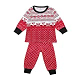 Sikye Christmas Pajamas PJs Set 2Pc Sleepwear Nightwear Family Matching Clothes (Red, 70 (6-9M))