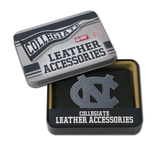Rico Industries NCAA North Carolina Tar Heels Embroidered Genuine Leather Trifold Wallet