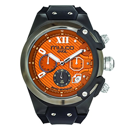 Mulco MW3-14021-915 Evol Collection Black Band Watch