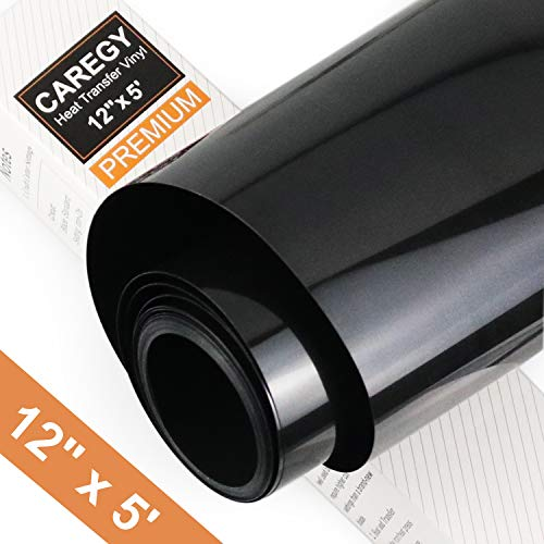 12x5,Pink CAREGY Iron on Heat Transfer Vinyl Roll HTV