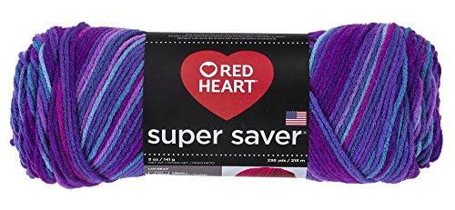 Red Heart Super Saver Yarn, Grape Fizz ()