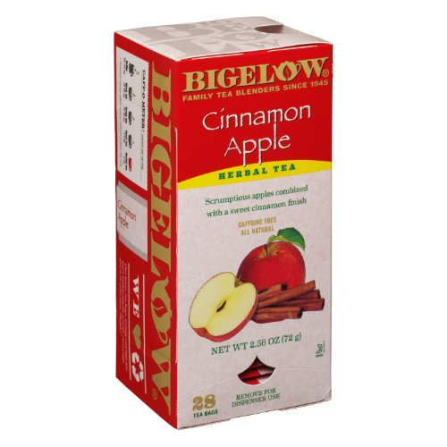 Bigelow Tea Bags, Cinnamon Apple Herbal, 28-Count Boxes (Pack of 6)