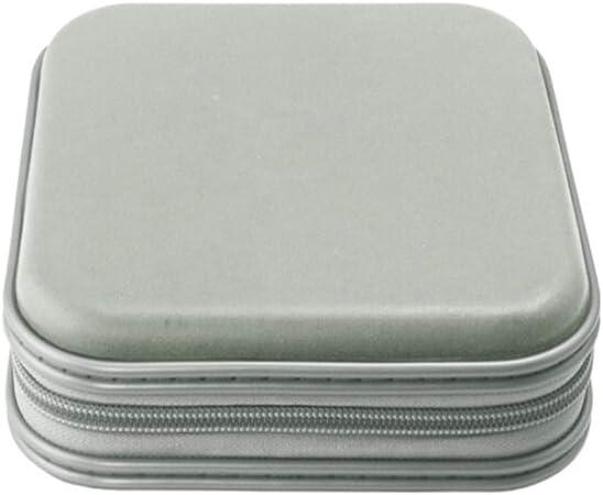 QiHaoHeji Bolsa de Reproductor De CD Estuche de Almacenamiento de DVD 40 CD Capacidad de Almacenamiento Organizador Monederos CD Case Hard (Color : Black, Size : M): Amazon.es: Hogar